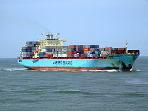 Maersk Gateshead p02 approaching Port of Rotterdam, Holland 08-Jul-2007.jpg