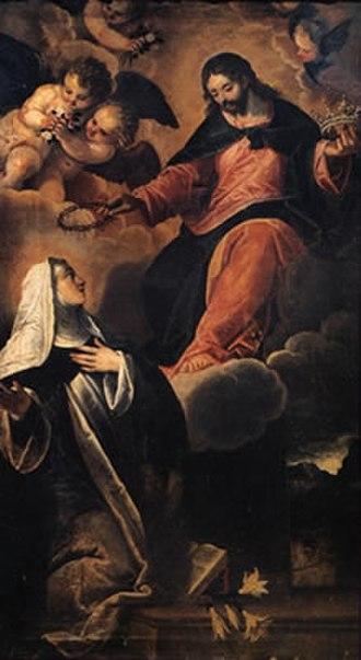 Maffeo Verona - Christ gives the crown to saint Catherine, Udine.