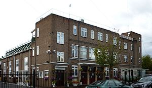 Fazl Mosque, London - The Caliph's residence:  an apartment above the office block beside the Mosque