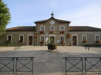 Jons, Rhône - The town hall in Jons