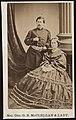 Major General George Brinton McClellan of General Staff U.S. Volunteers Infantry Regiment, in uniform standing beside his wife, Mary Ellen McClellan, in front of painted backdrop) - R.W. LCCN2017660637.jpg