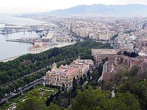 Málaga from the Parador