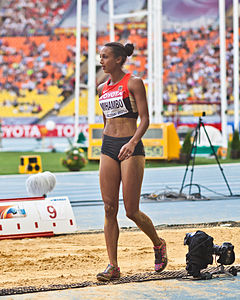 Malaika Mihambo (2013 World Championships in Athletics) 02.jpg