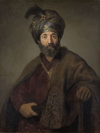 Protestantism and Islam - Rembrandt 1635: Man in Oriental Costume.