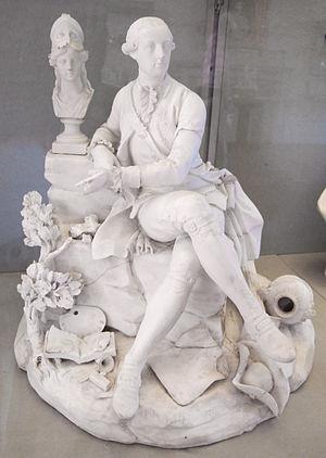 Bisque porcelain - Capodimonte porcelain figure, c. 1790