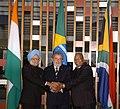Manmohan Singh, the President of the Federative Republic of Brazil, Mr. Luiz Inácio Lula da Silva and the President of the Republic of South Africa.jpg