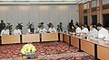Manmohan Singh chairing the Cauvery River Authority Meeting, in New Delhi. The Union Minister for Parliamentary Affairs and Water Resources, Shri Pawan Kumar Bansal, the Chief Minister of Tamil Nadu, Dr. J. Jayalalithaa.jpg