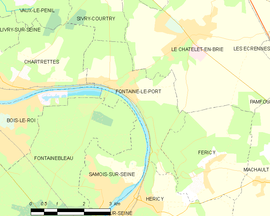 Mapa obce Fontaine-le-Port