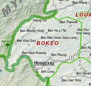 Bokeo Province - Image: Map of Bokeo Province, Laos