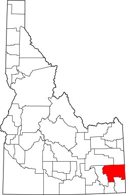 Map of Idaho highlighting Caribou County.svg