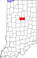 Map of Indiana highlighting Howard County