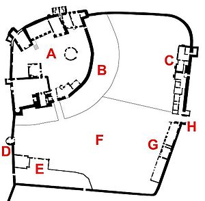 D And G Laundry Ludlow Plan of Ludlow Castle