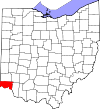 State map highlighting Hamilton County