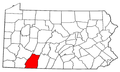 Map of Pennsylvania highlighting Somerset County.png