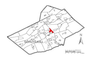 East Norwegian Township, Schuylkill County, Pennsylvania - Image: Map of Schuylkill County, Pennsylvania Highlighting East Norwegian Township