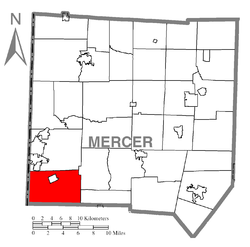 Location of Shenango Township in Mercer County