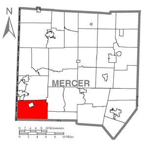 Shenango Township, Mercer County, Pennsylvania - Image: Map of Shenango Township, Mercer County, Pennsylvania Highlighted