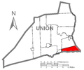 Map of Union County, Pennsylvania Highlighting Union Township.PNG