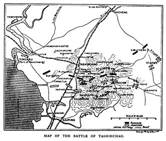 Battle of Tashihchiao - Historical map of the battle of Tashihchao.