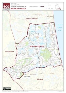 Map of the electoral district of Mermaid Beach 2017.pdf