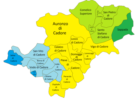 Cartina Geografica Dolomiti.Cadore Wikipedia