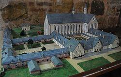 Maquette de l'Abbaye de Floigny par Jean-Claude Wiame.JPG