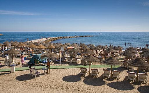 Marbella Beach, Costa Del Sol, Spain - Sept 2008