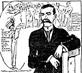 Marguerite Martyn draws Senator Reed Smoot of Utah, 1909.jpg