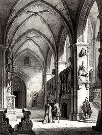 La fascinante Edad Media. - Página 5 200px-Marienpforte_und_Bamberger_Reiter_Lithographie_1820