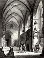 Marienpforte und Bamberger Reiter Lithographie 1820.jpg