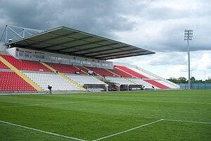 Sūduva Stadium - Image: Marijampoles stadiono tribunos