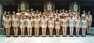 Marion Eugene Carl - Carl (1st from left, middle row) at the 1967 General Officers Symposium