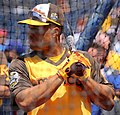 Mariners second baseman Robinson Canó takes batting practice on Gatorade All-Star Workout Day. (28646494276).jpg