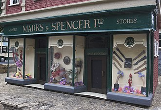 Marks & Spencer - Representation of historic store from the 1930s, Bekonscot model village, UK