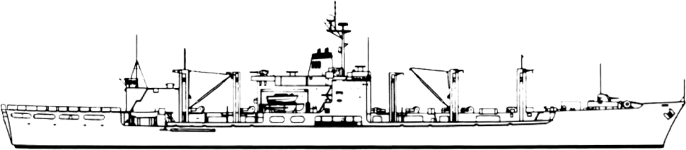 Mars class combat stores ship line drawing 1981