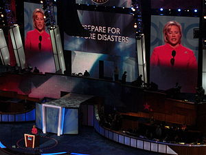 Mary Landrieu - Landrieu speaks during the second day of the 2008 Democratic National Convention in Denver, Colorado.