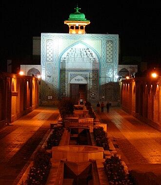 Qazvin - Entrance of Masjed al-Nabi, Qazvin, Iran.