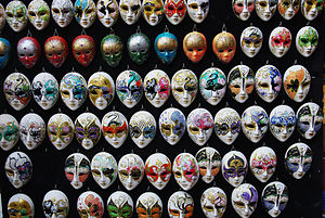 English: Masks in Venice, Italy