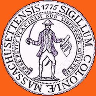 Province of Massachusetts Bay - Image: Massachusetts seal of 1775 Ense petit placidam sub libertate quietem