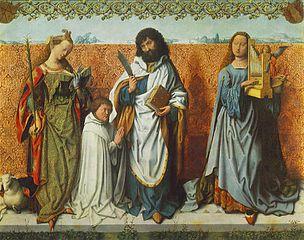 St. Bartholomew Altar: St. Agnes, St. Bartholomew and St. Cecilia