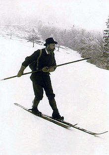 707e45b24 Mathias Zdarsky, tvorca jazdy na lyžiach v alpských podmienkach, v roku 1908