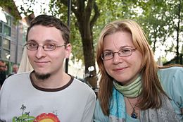 Mathieu Mariolle and Aurore Demilly 20070914 Festival Delcourt 01.jpg