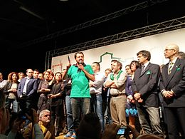 Matteo Salvini nel 2015.