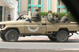2008 Mauritanian coup d'état - Mauritanian soldiers in Nouakchott on August 7, following the coup