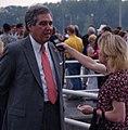 Mayor Abramson speaks to reporter (3596142584).jpg