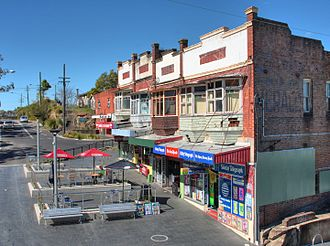 Meadowbank, New South Wales - Meadowbank railway shops and outdoor eating area