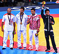 Medalists at the Men's 60 kg Greco Roman Wrestling (2).jpg