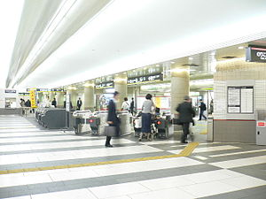 Meguro Station - Ticket gates for Tokyu and subway lines inside the station