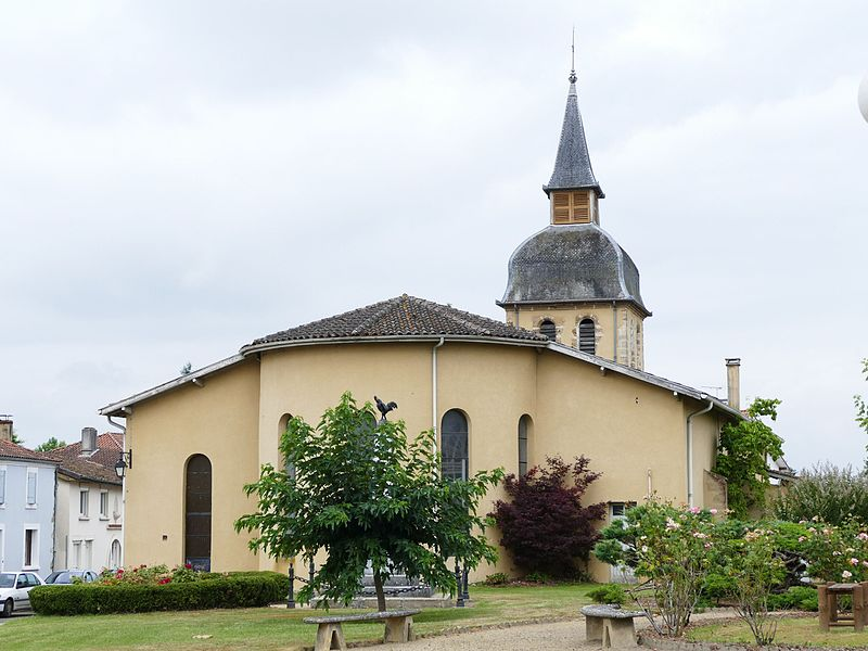 Saint-Barthélémy's church in Meilhan (Landes, Aquitaine, France).