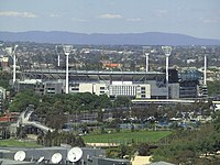 Melbourne Cricket Ground from city.JPG